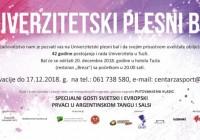 Plakat PLESNI BAL decembar 2018 pozivnice