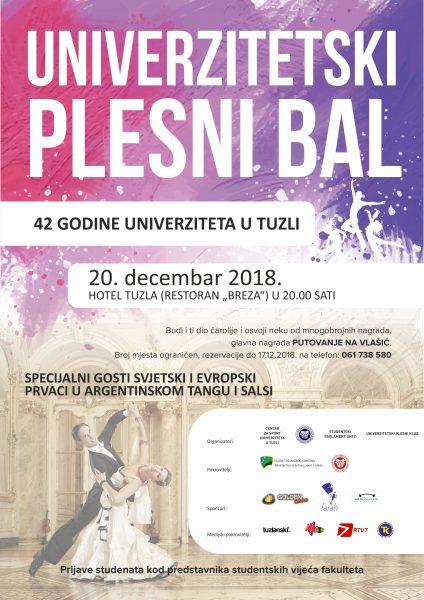 Plakat PLESNI BAL decembar 2018